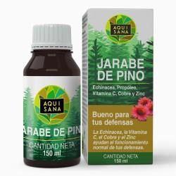 Jarabe de Pino - Aquisana | Jarabe con Equinacea + Propóleo +Vitaminas | Ayuda a reducir la Tos-libre de alérgenos -150 ml