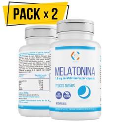 Melatonina – Valeriana – Tila – Pasiflora - Para conciliar el sueño | Conciliación Rápida del Sueño Con Efecto Duradero | Más Energía durante el Día| 100% Natural | Pack 2 -90 Cápsulas