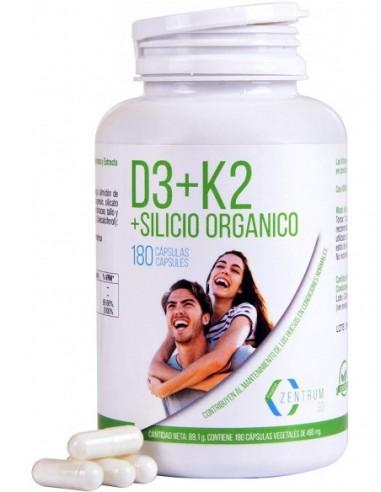Vitamina D3+K2 y silicio orgánico 180...