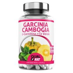 Garcinia Cambogia + L-Carnitina + Té Verde | Garcinia Cambogia Pura | Tú Complemento Natural | Termogénico Potente - 180 Cápsulas - Qualnat