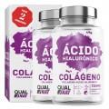 Pack 2 | Colágeno y Ácido Hialurónico Qualnat 90 cápsulas
