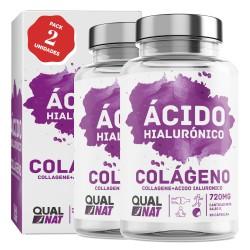 Colágeno con Ácido Hialurónico Cápsulas |Vitaminas C y Zinc | Piel Radiante + Efecto Anti Envejecimiento | Articulaciones Sanas PACK 2