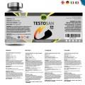 Testosterona Pura Suplemento Deportivo + Aumenta Masa Muscular / fuerza, resistencia y Energía /Maca + Zinc / 30 Cápsulas