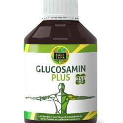 Glucosamin Plus -Aquisana + Colágeno + Condroitina + MSM | Suplemento para la salud de las articulaciones | Huesos Sanos y Cartílagos| Libre de Alergenos -Glucosamina Liquida 500 ml