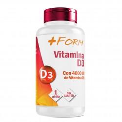 Vitamina D3 | Silicio orgánico Para el mantenimiento de unos Huesos Fuertes y Sanos | Vit D3 Para la correcta Absorción y Distribución del Calcio en Nuestro Organismo | 1 Cápsula al Día | Suplemento Alimenticio de 90 cápsulas | + Form