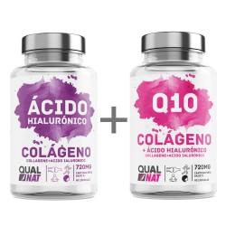 PACK - Colageno Ácido Hialurónico + Coencima Q10 | Vitamina C -Qualnat