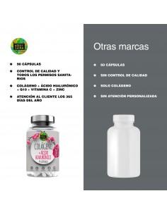 Pack 2 | Colágeno + Q10 + ácido hialurónico + Vitamina C |Piel Radiante | Efecto Antienvejecimiento |100% Natural | 180 Cápsulas
