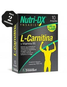 PACK 2 - L Carnitina 3000 | L-Carnitina Líquida | L-carnitina Con Vitamina C |20 Viales - Qualnat