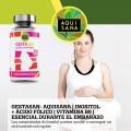Gestasan- Aquisana | Inositol + Ácido Fólico | Vitamina B9 | Esencial durante el Embarazo | Alta Absorción- Libre de Alérgenos